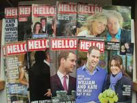 image of Hello magazine: nos. 1086, 1102, 1104, 1164, 1168, 1175, 1177, 1186, 1255  & 1256 (24 Aug & 14 Dec 2009, 4 Jan 2010, 7 Mar, 4 Apr, 23 May, 6 June & 8  Aug 2011, 10 & 17 Dec 2012 (10 issues of 'the' royal couple from Kate as  girlfriend to first baby news)