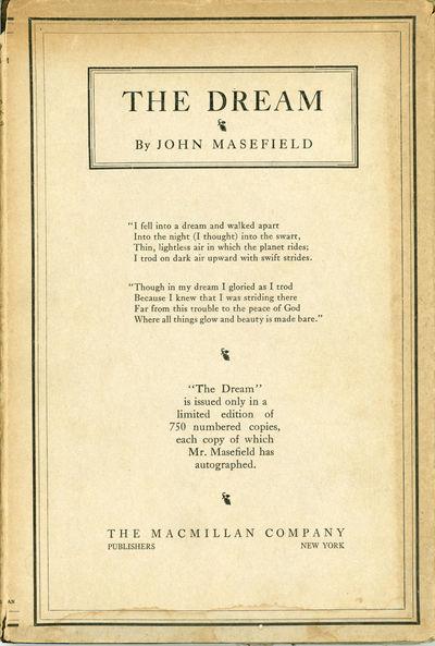 New York: The Macmillan Company, 1922. Octavo, five woodcut illustrations by Judith Masefield, cloth...