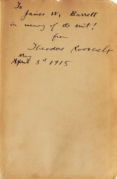 New York: The Macmillan Company, 1914. First Edition. Hardcover. Text marginally dampstained to vary...