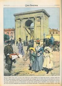 Ripetizione di una tavola di Beltrame del 1899 sugli sventramenti delle citt� italiane, per il \
