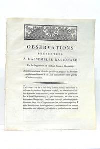 OBSERVATIONS présentées à l'Assemblée Nationale par les...