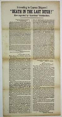 [New York, 1867. Broadside, 6-3/4