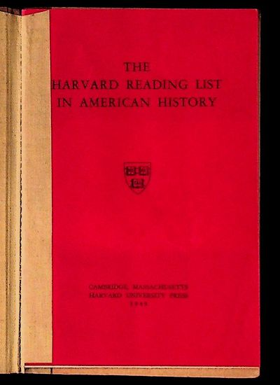 Cambridge: Harvard University Press, 1949. Hardcover. Very Good. Hardcover. Ex-library from the Long...