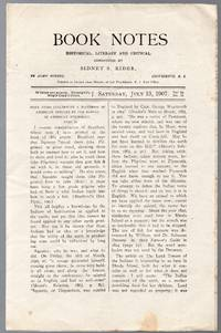 image of Vintage Issue of Book Notes Historical, Literary and Critical Magazine for  July 13, 1907