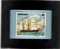 Framed Postage Stamp Mini-Art - German Brigg Holstein-Blankenese