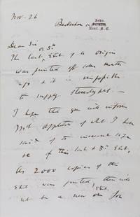 Autograph letter signed (