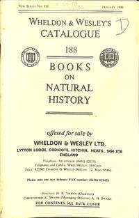 Catalogue 188/January 1990: Books on Natural History
