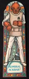 Original 1983 Star Wars Return of the Jedi ADMIRAL ACKBAR Bookmark; #16 in the series