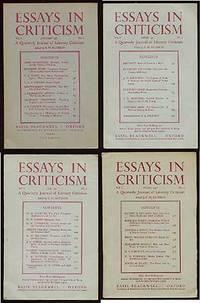image of Essays in Criticism