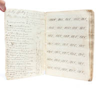 Manuscript notebook including a young woman's early penmanship practice and later reflections on...