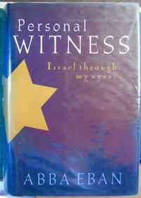 Personal Witness : Israel Through My Eyes