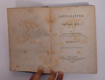 New York: Harper and Brothers, 1852. 1st. Hardcover. Fair+. Small piece missing from top of spine ne...