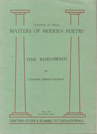 Quaderni Di Poesia Masters of Modern Poetry Time Remembered