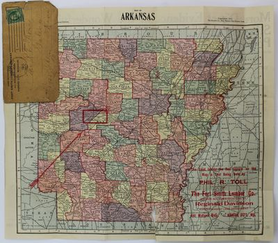 Des Moines: Kenyon Map Company, 1911. Good plus.. Folding pocket map, 12.5 x 14.5 inches. Original p...