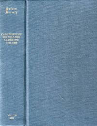 Case Notes of Sir Soulden Lawrence 1787-1800