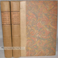 Oxford: Clarendon Press, 1924. half creme colored cloth over marbled paper-covered boards, paper spi...