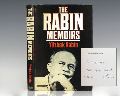 Boston: Little, Brown & Company, 1979. First edition in English of the memoirs of Yitzhak Rabin. Oct...
