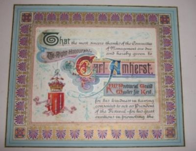 London, 1891. Full Morocco. Very Good. Three hand-decorated and written certificates mounted and mat...