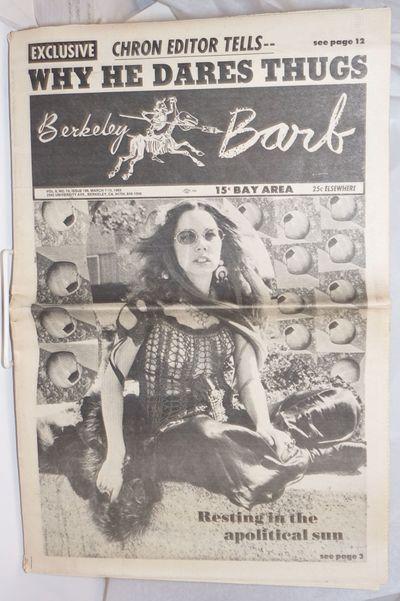 Berkeley: Berkeley Barb, 1969. 24p., folded tabloid, illus., lightly and evenly toned, minimal frayi...