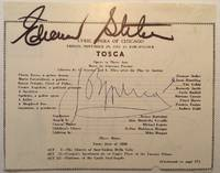 Autographed fragment of a concert program