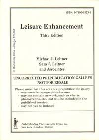 Leisure Enhancement : Uncorrected Prepublication Galleys