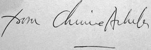 Chinua Achebe signature