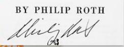 Philip Roth signature