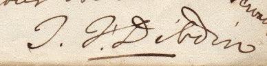 Thomas Frognall Dibdin signature