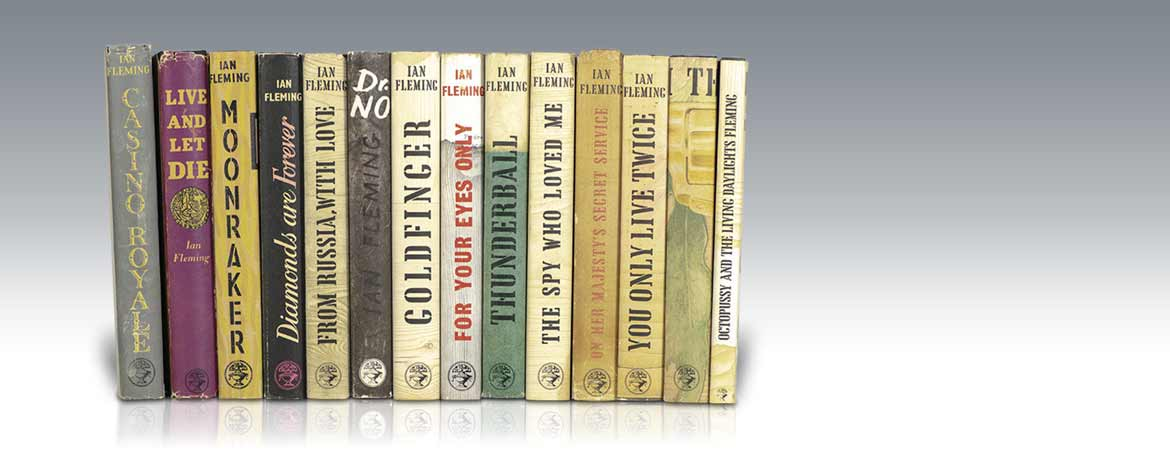 Modern First Editions are also prized by book collectors, such as this collection of James Bond novels