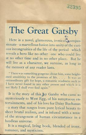 copy of the blurb on the Great Gatsby
