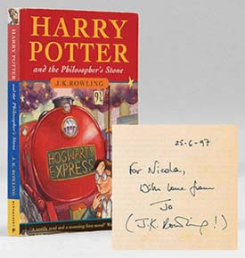 Harry Potter and the Philosopher's Stone, Signed by J.K. Rowling