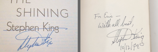 Signed books and Inscribed books: Biblio Book Collecting Guide
